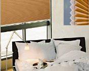 braunes duett plissee für das schlafzimmer